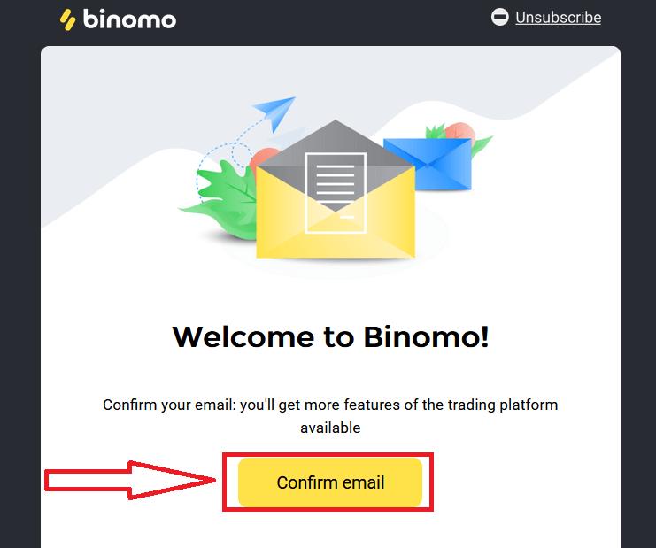 如何在 Binomo 上开设模拟账户