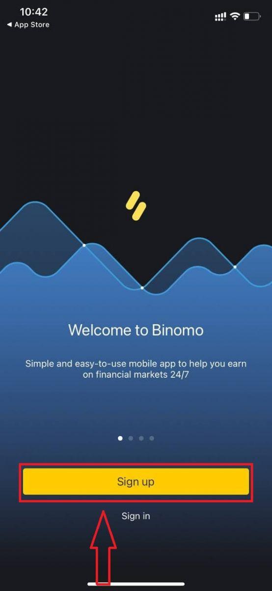 如何在 Binomo 开户和取款